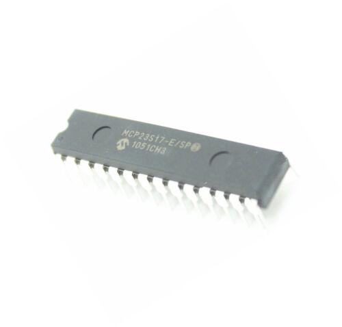 5PCS MCP23S17 MCP23S17-E//SP IC I//O Expander Serial PERIPHERAL INTERFACE 16B 28 SDIP New