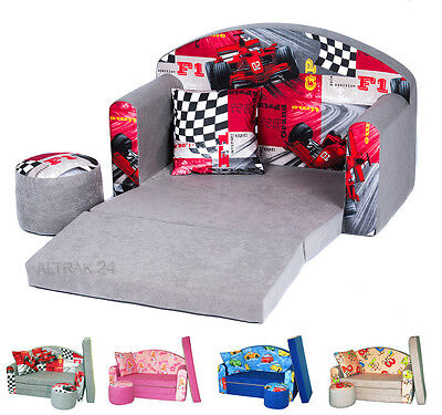 Children's sofa foam Set 3in1 with pouffe pillow Free P&P and UK Delivery