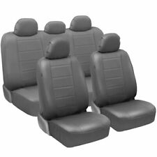 Carxs Pu Leather Car Seat Covers Full Set Front Amp Rear Cover In Gray Fits Seat
