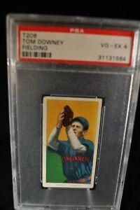 1909-11 T206 - Tom Downey  - Fielding - PSA 4 - VG-EX