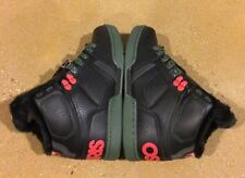 Osiris NYC 83 Shearling Size 5 Black Pine Red BMX DC MOTO Skate Shoes $85 Box