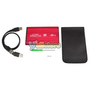 "2.5"" Inch Silver Sata USB 2.0 Hard Drive HDD Enclosure External Laptop Disk Case"