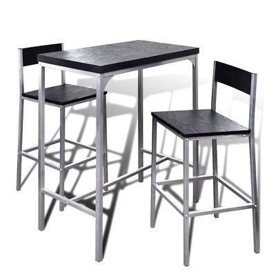 3tlg set bartisch fr hst ckstisch k chentisch stehtisch mit 2x st hlen barstuhl ebay
