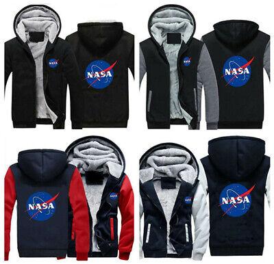Men/'s Women/'s NASA Space Logo Thick Sweatshirts Hoody Hoodie Pullover Zipper