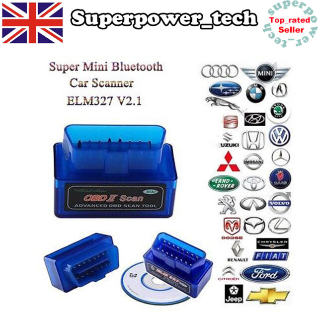 Mini OBD2 ELM327 V2.1 Bluetooth Car Scanner Android Torque Auto Scan Tool OBD-II