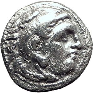ALEXANDER-III-the-GREAT-323BC-Authentic-Ancient-Silver-Greek-Coin-w-Zeus-i64684
