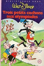 Les 3 petits cochons aux Olympiades / Walt DISNEY // Bibliothèque Rose / Mini R