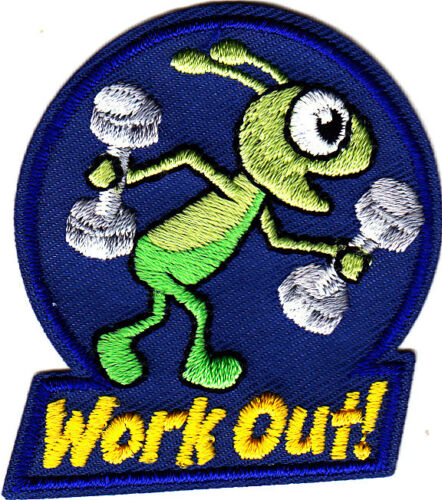 "/""d/' entraînement!/"" Iron on Embroidered Patch Sports Fitness Exercice"