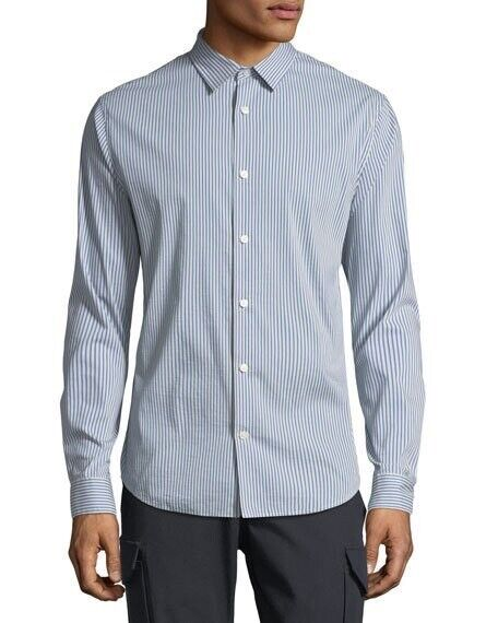 VINCE Men's bluee Striped Long-sleeve Sport Shirt Retail   (NWT)