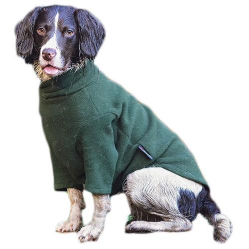 Jersey de perro de corderito de invierno hotterdog-Extra Grande Verde Bosque hecha por equafleece