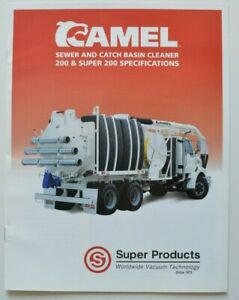 SUPER-PRODUCTS-CAMEL-Sewer-Cleaner-1998-dealer-brochure-catalog-English-USA