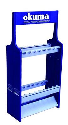 Okuma Expandable Fishing Rod Rack, 16 Poles ABS Holder Storage, Fish, New.