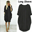 Womens-Pocket-Long-Sleeve-Oversized-Stretch-Loose-Ladies-Casual-Tops-Mini-Dress thumbnail 15