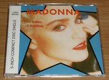 "MADONNA Holiday / Everybody GERMAN 2 TRACK ""STAR"" CD SINGLE 7599-21140-2 MINT!!"