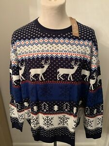 Details about Mens Very Smart Christmas JumperSweater BNWT *UK Size XXL*