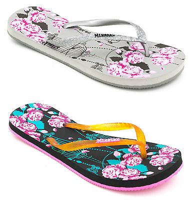 Señoras Piña isla Mixstar Ojotas Floral Rosas - 2 Colores