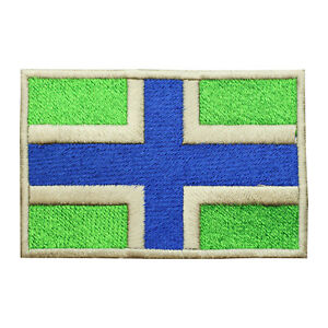 Gloucestershire County Flag Patch Iron On Patch Sew On Embroidered Patch
