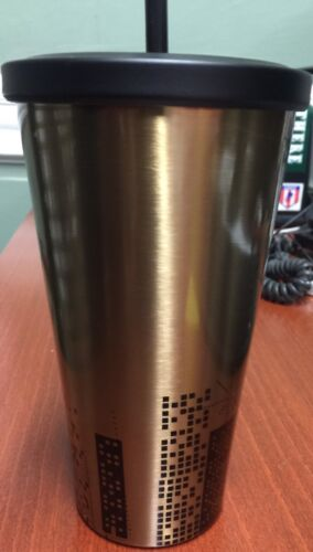 Starbucks NYC Times Square Limited Edition Cold Cup Gold Stainless Tumbler//16 oz