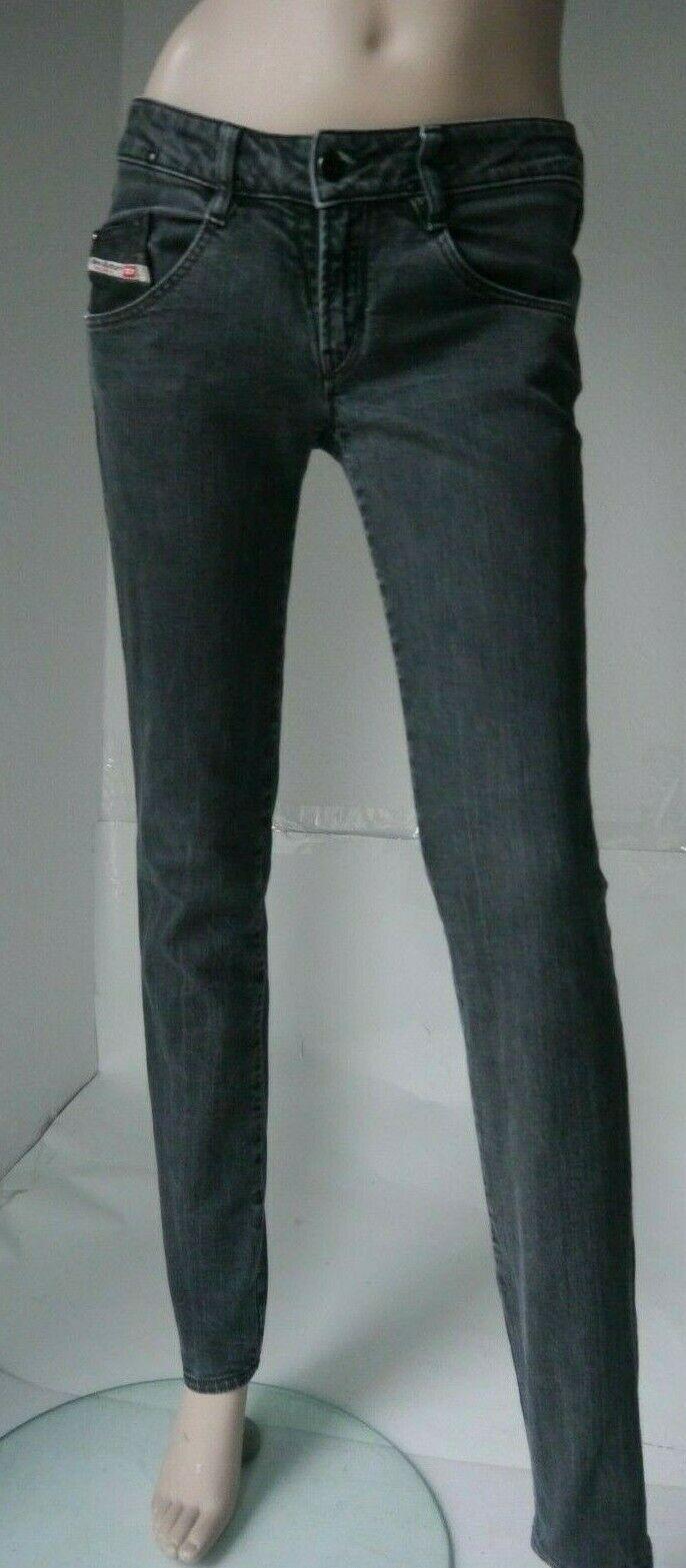 Diesel Industry Jeans CLASH NEU W29 L32 Stretch Schwarz Grau Baumwolle Elasthan