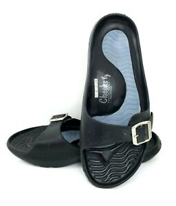 Tony Little Cheeks Exercise Sandals with Adjustable Strap Black-NWT