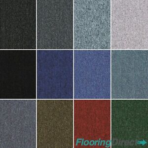 Commercial Domestic Office Heavy Use Flooring Box of Premium Carpet Tiles 4m2