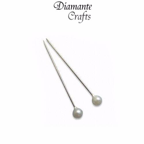 100 Pearl Pins 4cm Choose Colour Wedding Florist Bouquet Buttonhole Craft