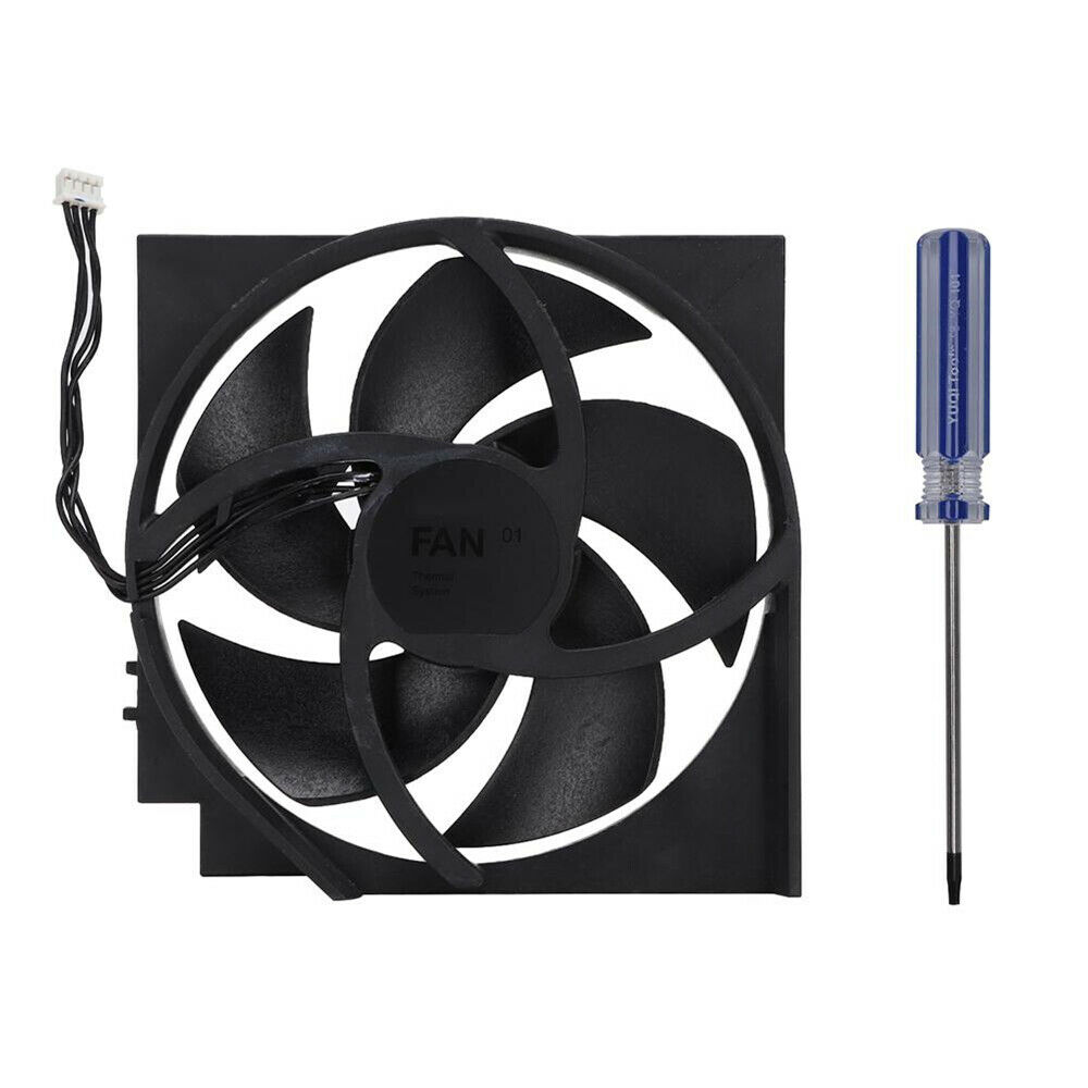 1PC Replacement Internal Cooling Fan for Xbox ONE S 5 Blades 4 Pin + Screwdriver
