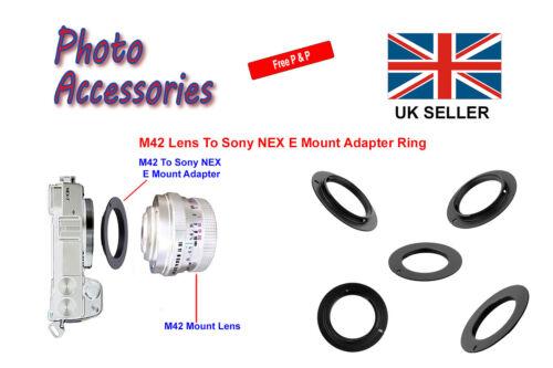DSLR M42 para Sony Alpha NEX E Monte Adaptador Anillo para Sony NEX E Monte digital