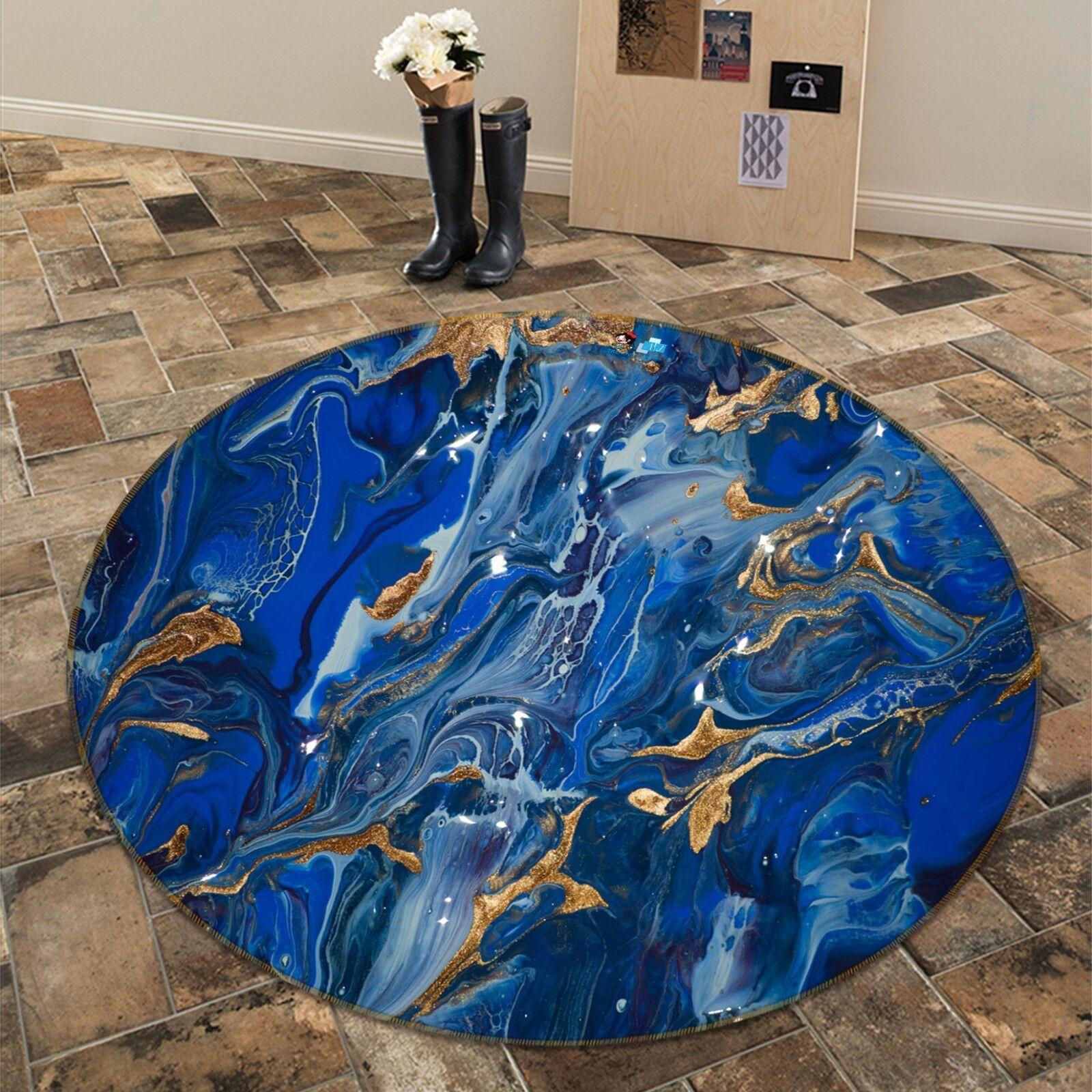 3D Abstract Painting 1 Non Slip Rug Mat Room Mat Round Quality Elegant Carpet AU