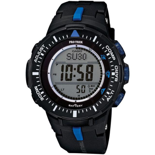 5c891e21b6b Casio Prg300-1a2 Smart Watch Protrek Trplsensr BLUBLK Prg3001a2 for ...