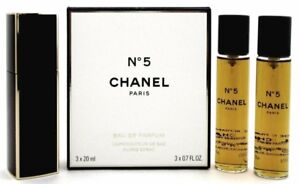 9ec53fbc801e Chanel No. 5 Twist and Spray Eau de Parfum Purse Spray 3x20ml. (3x0 ...