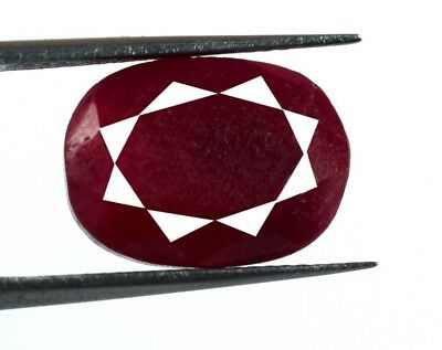 Oval African Pigeon Blood Birthstone Natural Red Ruby Loose Gemstone 10 Ct