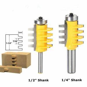 "1//2/"" 1//4/"" Reversible Shank Finger Glue Joint Router Bit Cutter Woodworking Tool"