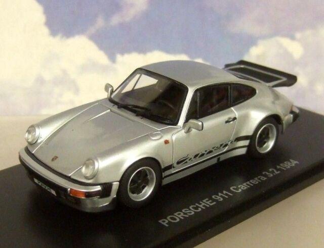 KYOSHO 1/43 DIECAST 1984 PORSCHE 911 CARRERA 3.2 IN SILVER OPENING PARTS 05522S