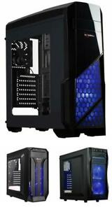 Mid Tower Case with Blue LED Fan/Gaming Case for PC...