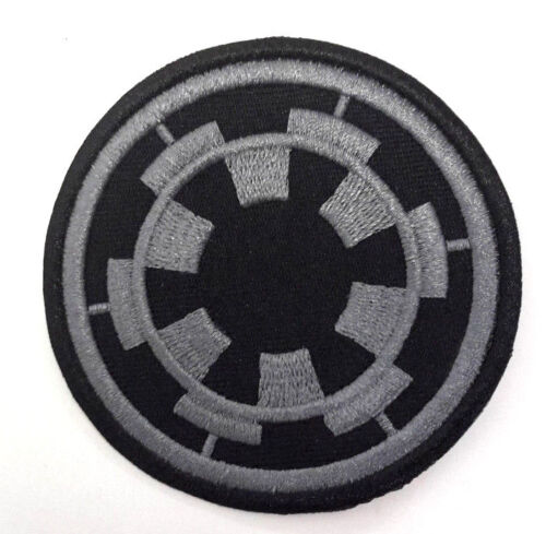 """SWPA-CD-19-B Star Wars Imperial Forces COG Logo 3/"""" Black Patch USA MAILED"""