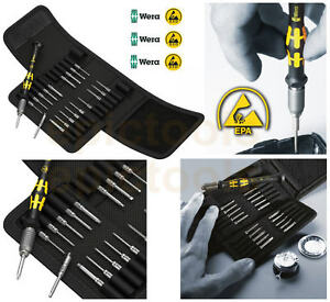 wera 20 piece kraftform micro esd anti static precision screwdriver set 073671 ebay. Black Bedroom Furniture Sets. Home Design Ideas
