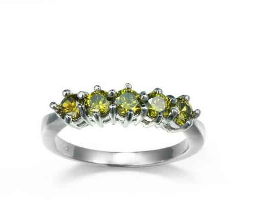 Cadeau de Noël 40 l/'Gems Naturel Olive Peridot gemstone silver rings US Sz 7 8 9