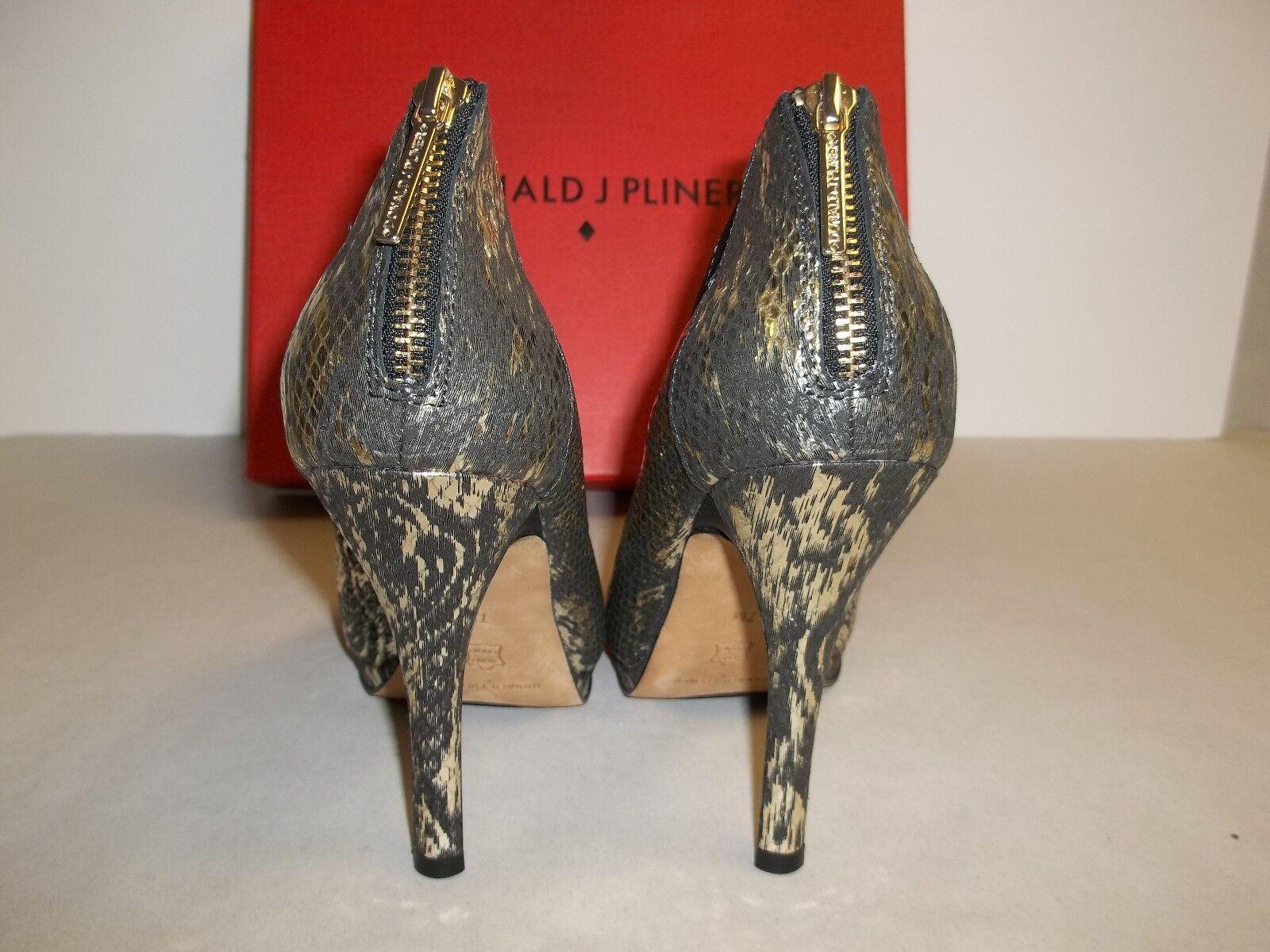 Donald J Pliner tamaño tamaño tamaño 7 M Sassi Platino Cuero Botín Nuevos Mujer Zapatos De Plataforma 08ab63
