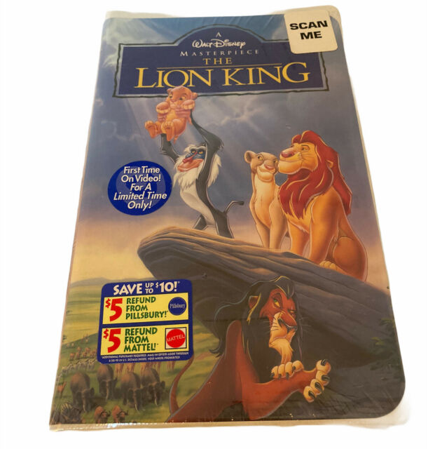 The Lion King (VHS, 1995) Walt Disney Masterpiece - New Sealed In Package
