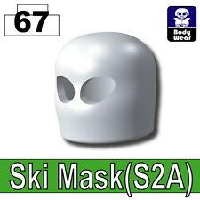 White Ski Mask (W6) Army Balaclava compatible with toy brick minifigures Black