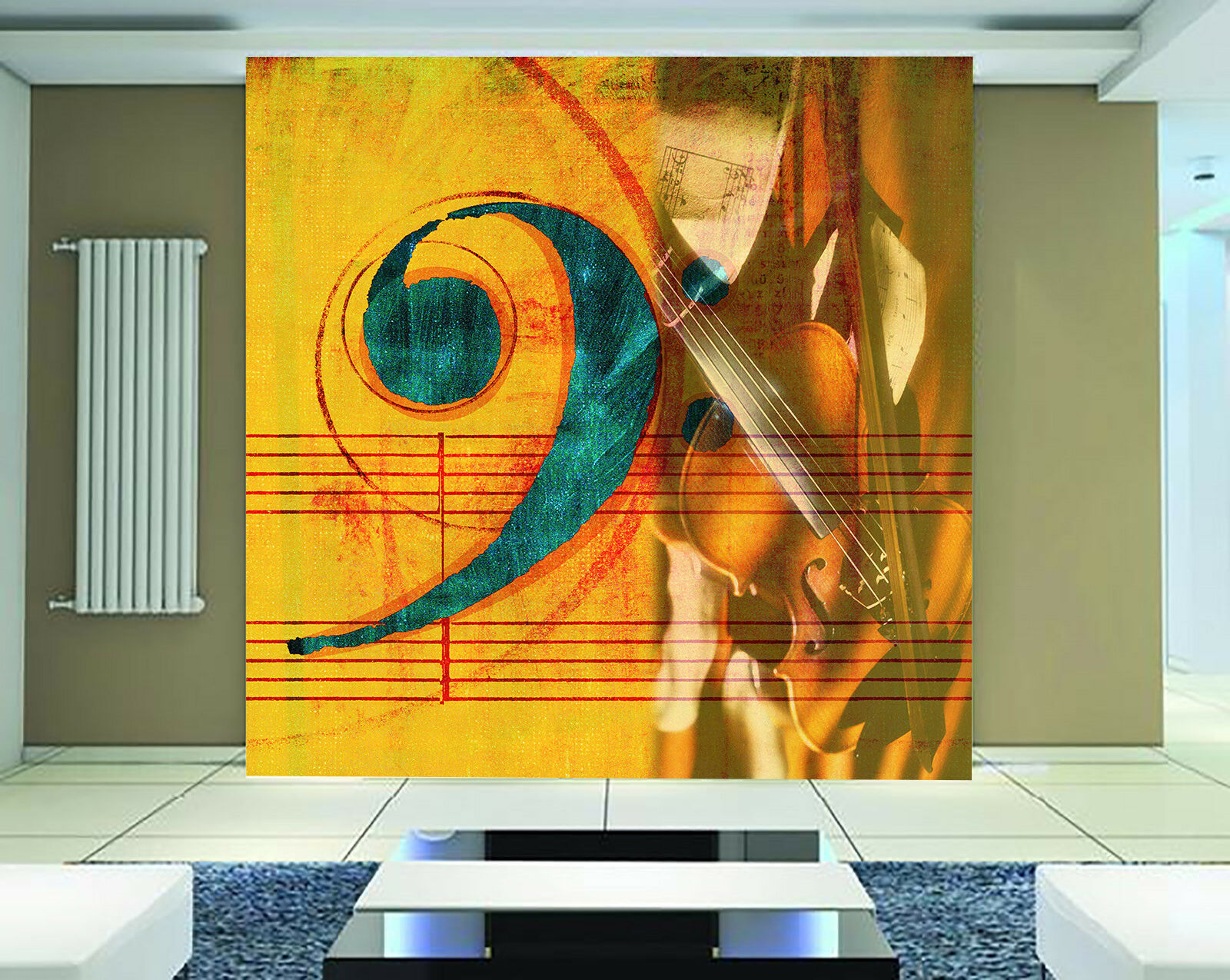 3D Guitar Art Note 466 Wall Paper Wall Print Decal Wall Deco Indoor Mural Carly