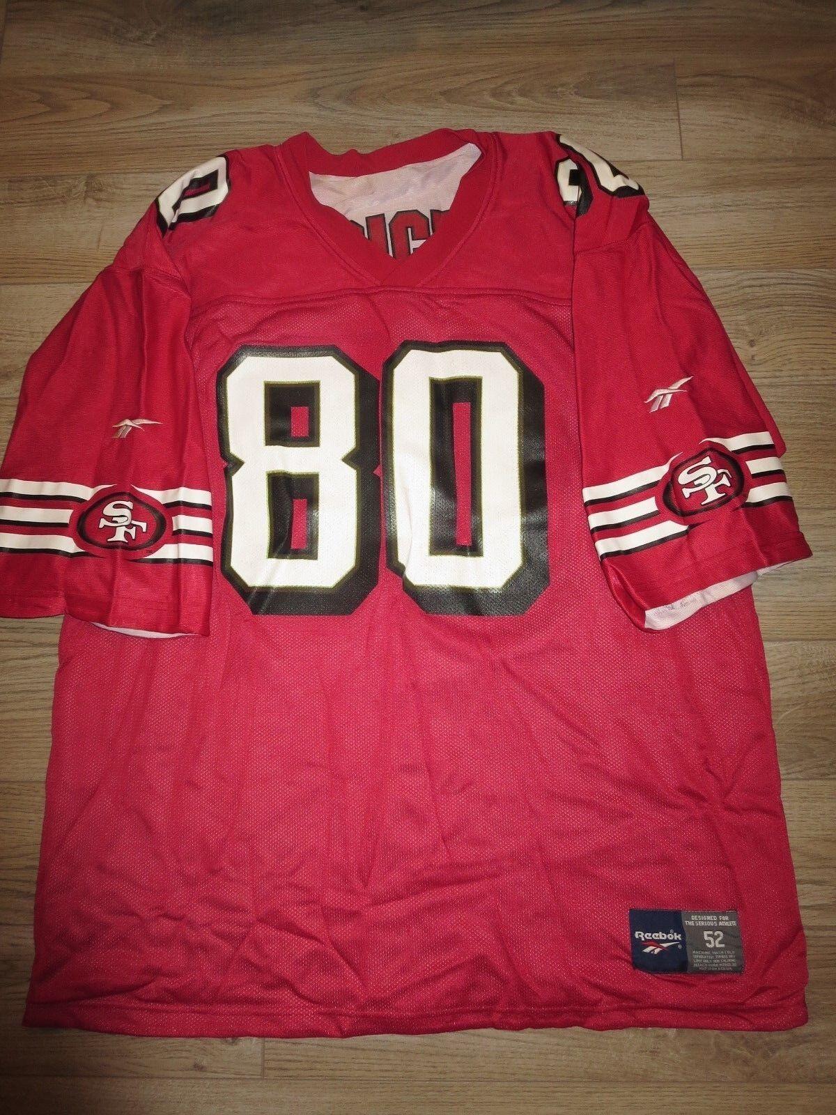 Jerry Rice San Francisco 49ers Reebok NFL Super Bowl Reversible Camiseta 52