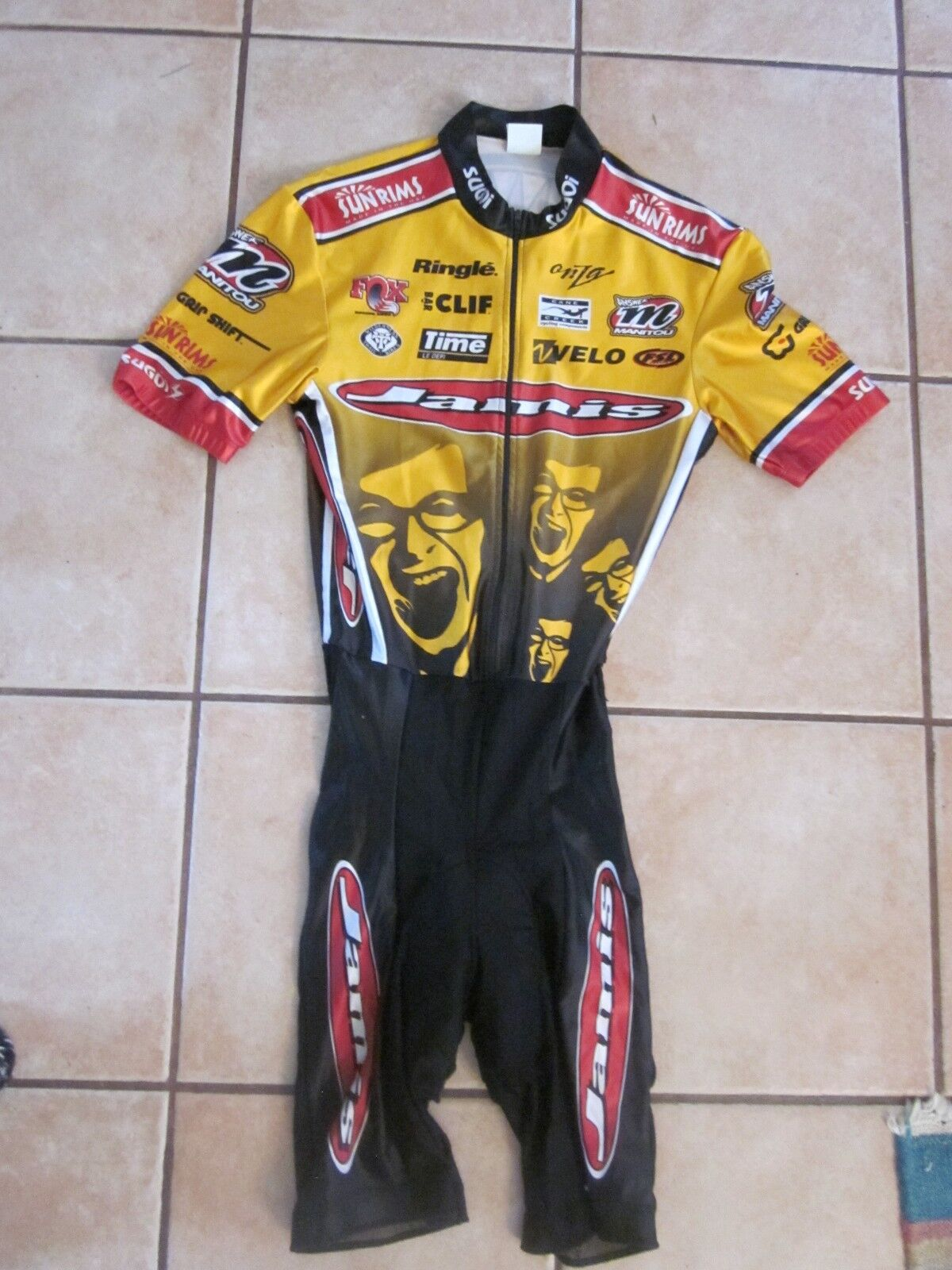 Cycling Skinsuit  Jersey w Shorts Jamis Mountain Bike Racing Team Vintage 1990s  70% off cheap