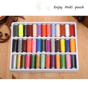 39-Assorted-Colours-200-Yards-Per-Unit-Polyester-Sewing-Thread-Spool-Set