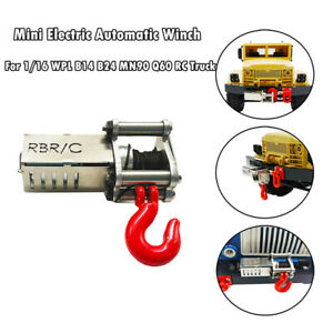 Electric-Automatic-Mini-Winch-For-1-16-WPL-B14-B24-B26-C14-MN90-MN91-RC-Trucks