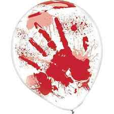 Asylum Bloody Handprint Haunted House Halloween Party Decoration Latex Balloons