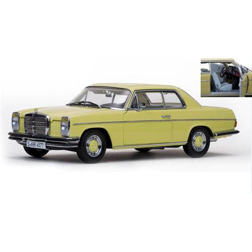 MERCEDES STRICH 8 COUPE' 1968 PASTEL giallo 1:18 SunStar Auto Stradali Die Cast