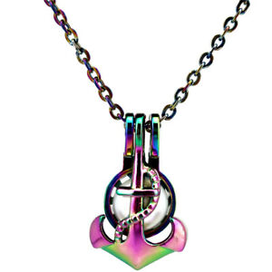 C656 colors anchor beads cage locket pendant necklace charms ebay image is loading c656 colors anchor beads cage locket pendant necklace aloadofball Choice Image