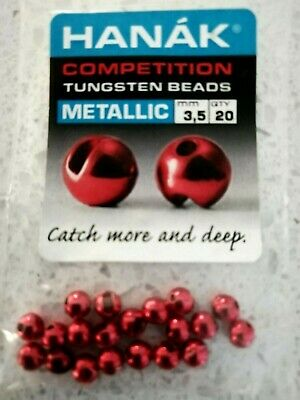 Metallic Tungsten Beads for Tying Czech Nymphs /& Buzzers 5 cols From Soldarini.